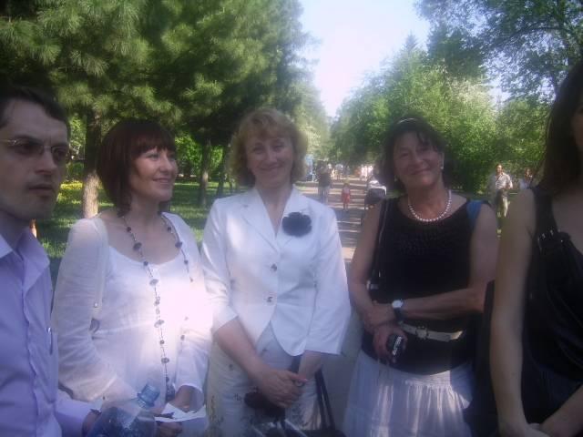 наши спонсоры - Ирина Борис, Ирина Тонконогова, Марина  Рукавишникова. Слева Андрей Зайцев, не спонсор, но друг и партнер:)