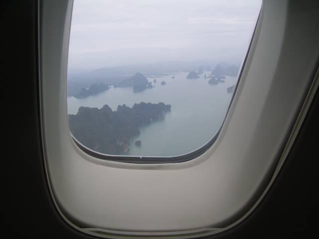 Таиланд из окна самолета